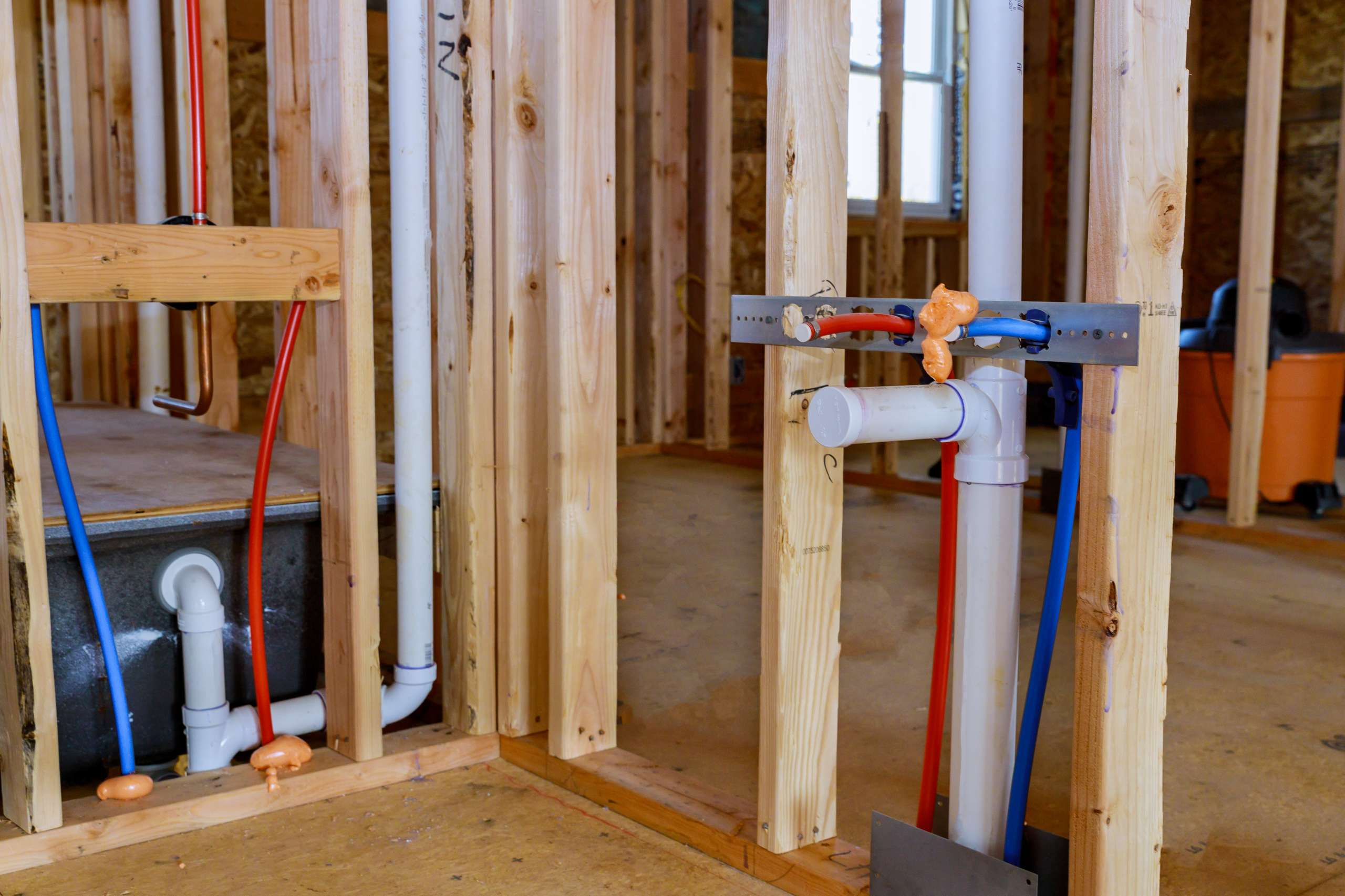 Install Electrical, Rough Plumbing, and Insulation
