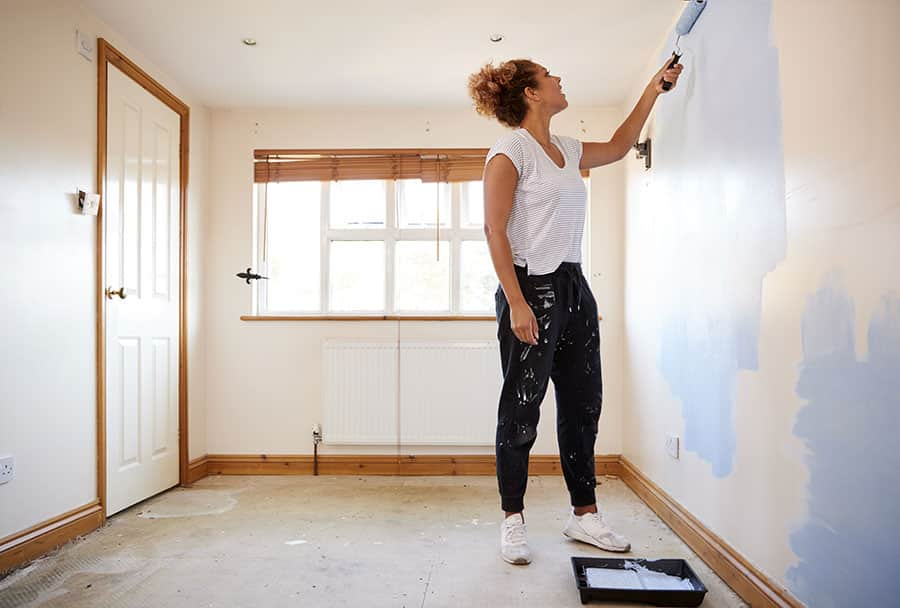 Paint the Walls and Perform Finish Work
